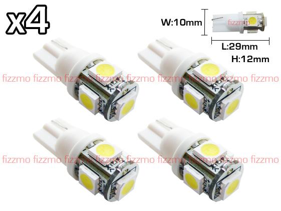 2pcs Blanc Dome 6 LED SMD voiture Feston Ampoule C5W Lampe 36mm DC 12V F4X5